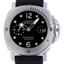 Panerai Luminor Submersible Steel 44mm Black Arabic numerals