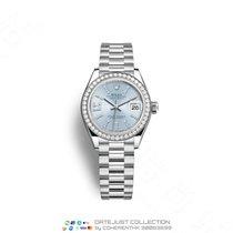 Rolex Platina Automatisch Blauw Geen cijfers 28mm nieuw Lady-Datejust