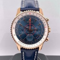 Breitling Montbrillant 01 pre-owned 40mm Blue Leather
