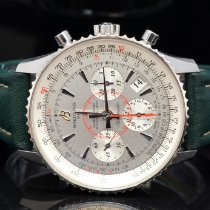 Breitling Montbrillant 01 pre-owned 40mm Silver Leather