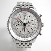 Breitling Navitimer World Steel 46mm White No numerals