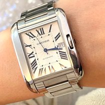 Cartier Tank Anglaise Steel 36.5mm Silver