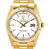 Rolex Day-Date Yellow gold 36mm White