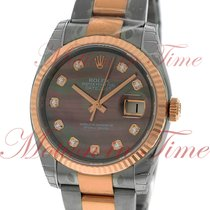 Rolex Datejust 36mm, Dark Mother of Pearl Diamond Dial, Fluted...