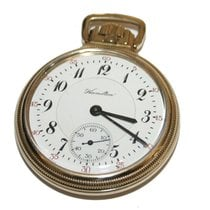 Hamilton 10k Gold Filled 23 Jewel  Pocket Watch Model #950...