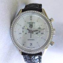 TAG Heuer Carrera Chronograph Steel Ladies Diamond Bezel Pearl...