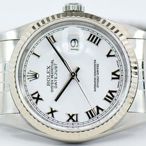 Rolex Datejust 36mm Stainless Steel With White Roman Numeral Dial