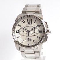 Cartier Calibre de Cartier Chronograph Acier 42mm Argent Romains