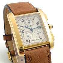 Cartier Tank Française Chronoflex 18K 750 Gold Chronograph