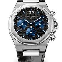 Girard Perregaux Laureato 81020-11-631-BB6A Laureato Chronografo Acciaio Pelle 42 mm new