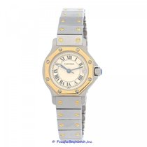 Cartier Santos (submodel) pre-owned 24mm White Date Gold/Steel