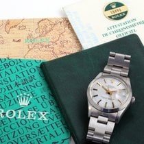 Rolex 34mm SS DATE Silver Dial w/ Box & Papers 15000 model