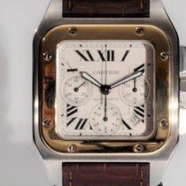 Cartier Santos 100 usado 41mm Ouro/Aço