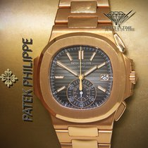 Patek Philippe Nautilus Chronograph 18k Rose Gold Mens Watch...