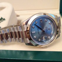 Rolex Day-Date II Платина 41mm Синий Римские Россия, Mosca