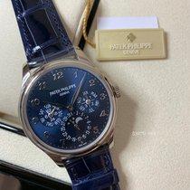 百達翡麗 Perpetual Calendar 白金 39mm 藍色 阿拉伯數字 香港, HK