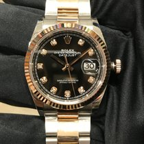 Rolex Datejust Oro/Acciaio 36mm Nero Senza numeri Italia, Roverbella