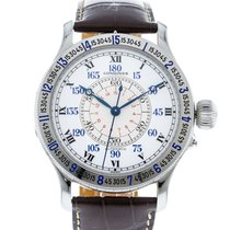 Longines Lindbergh Hour Angle pre-owned 47.5mm White Leather