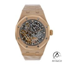 Audemars Piguet Royal Oak Double Balance Wheel Openworked Růžové zlato 37mm Šedá Bez čísel