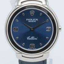 Rolex Cellini Oro blanco 37mm Azul Romanos