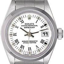 Rolex Ladies Rolex Date Watch 69160 White Roman Dial