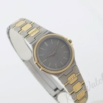 Milus vintage ladies titanium/gold diamonds