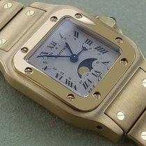 Cartier Santos Galbee Moon Phase, Yellow Gold