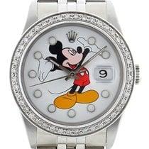 "Rolex Datejust ""Mickey Mouse"" Diamond  ref. 16220"