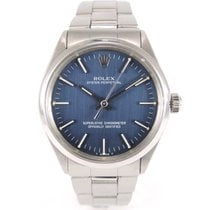 Rolex Oyster Perpetual Vintage 1002 Brushed blue dial