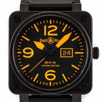 Bell & Ross BR01-96ORANGE BR01-96 Grand Date in Steel with...