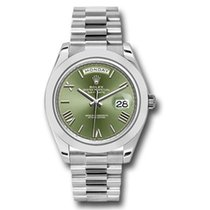 Rolex Day-Date 40 Platinum 40mm Green Roman numerals United States of America, Pennsylvania, Holland