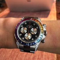 Rolex Daytona Rainbow Custom White Gold FIX