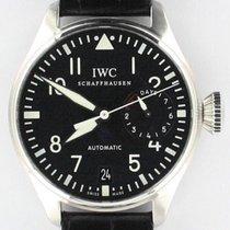 IWC Big Pilot occasion 46mm Noir Date Cuir de crocodile