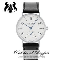 NOMOS Tangente 38 Staal 37.5mm Wit
