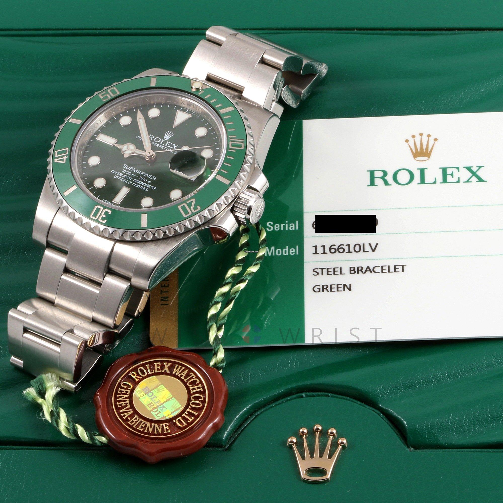 Rolex 116610 LV Submariner Date Green Dial & Ceramic Bezel