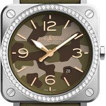 Bell & Ross BR S BRS-CK-ST-LGD/SCA Green Camo Diamonds Неношеные Сталь 39mm Кварцевые