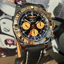 Breitling Chronomat 44 GMT Zlato/Zeljezo 44mm Crn Bez brojeva