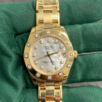 Rolex Pearlmaster Yellow gold 34mm Mother of pearl No numerals