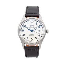 IWC Pilot Mark pre-owned 40mm Silver Date Leather