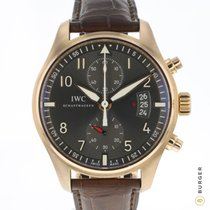 IWC Pilot Spitfire Chronograph Oro rosado 43mm Gris Árabes