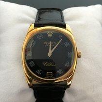 Rolex Cellini Danaos Geelgoud 33mm Zwart Arabisch