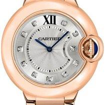 Cartier Ballon Bleu 28mm Roségold 28mm Silber Römisch
