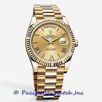 Rolex Oro amarillo Automático Champán Romanos 40mm nuevo Day-Date 40