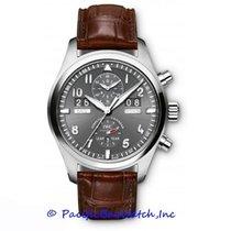 IWC Fliegeruhr Spitfire Perpetual Calendar Digital Date-Month Stahl 46mm Grau Arabisch