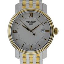 Tissot Bridgeport Quartz Stainless Steel And Yellow Gold...