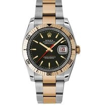 Rolex 116261_used_black_stick 2-Tone Datejust 36mm with...
