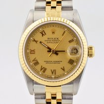 Rolex Datejust Two Tone 18k Gold Stainless Steel Champagne...