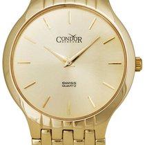 Condor Volant 14kt Gold Mens Luxury Swiss Watch Quartz GS30001