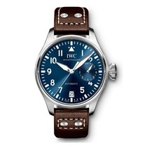 IWC IW500916, Big Pilot, Blue Dial, Steel and Leather