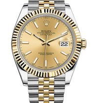 Rolex Datejust Rolex 126333 Datejust Champ Index dial Steel and Yellow Gold 2020 new